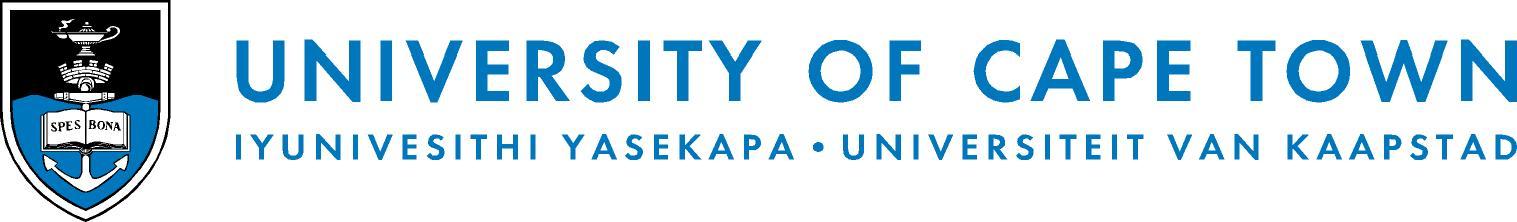 UCT horizontal logo
